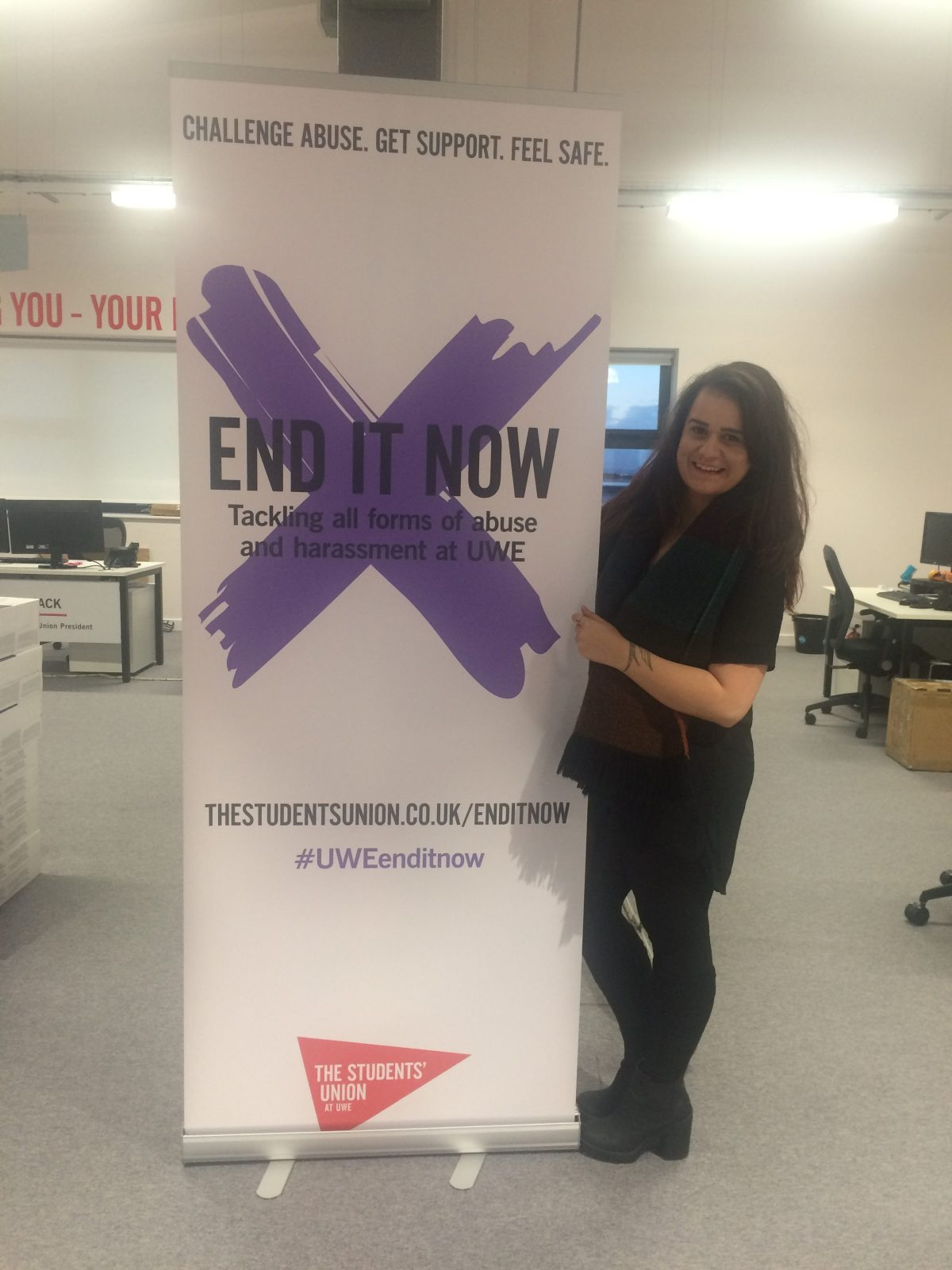 Ruth at End It Now event, A global campaign to raise awareness and advocate for the end of violence against women and children [Image credit: Ruth O'Leary]