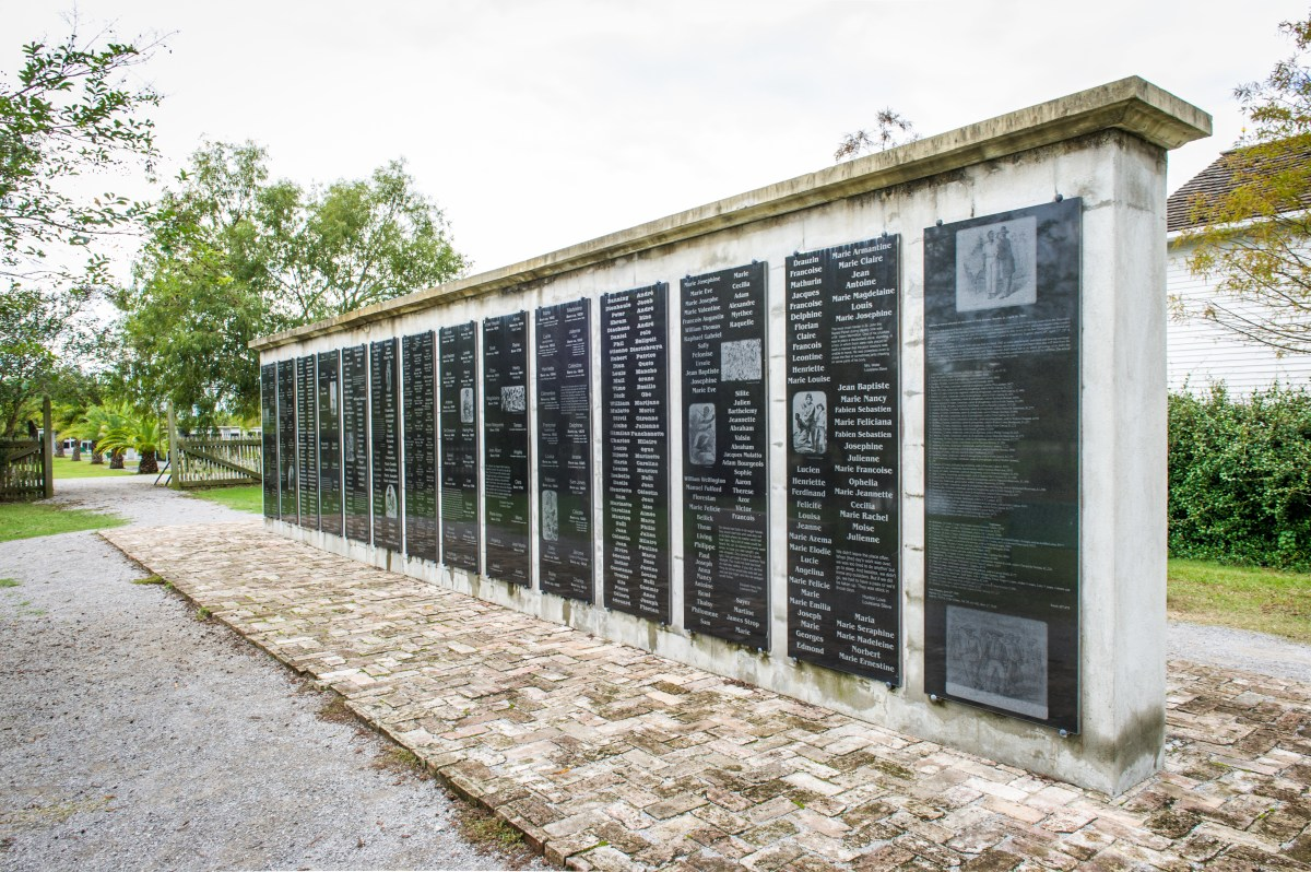 Memorial to slavery at Whitney Plantation [Image credit: Elsa Hahne for Whitney Plantation]