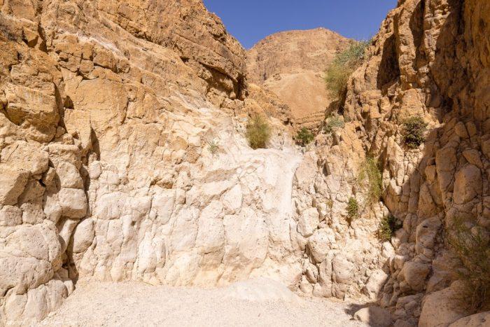 Zafit Trail: Stelle des Aufstiegs aus dem Trockenen Canyon