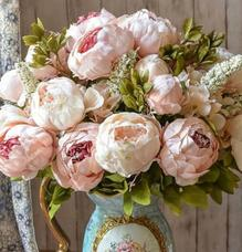 Artificial Vintage Peony Bouquet   Artificial Flowers   Vases     Artificial Vintage Peony Bouquet
