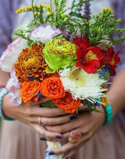 Mixed flower wedding posy, bridal flowers-bridal-bouquet-wedding-flowers-the-little-flower-shop-wedding-florist-london