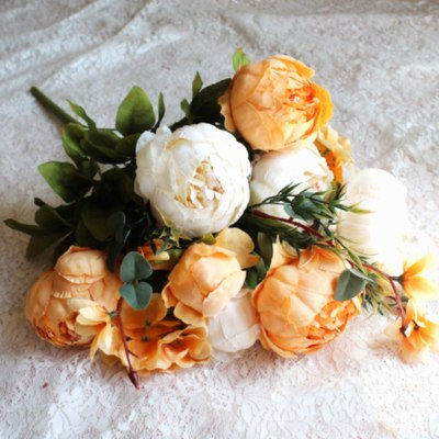 Artifical-flowers-peony-pink-peonies-fake-plants-artificial-the-little-flower-shop-florist-london-uk-delivery-faux-flowers-artificials-vintage-orange-artifical-bouquet-7