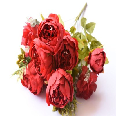 Artifical-flowers-peony-pink-peonies-fake-plants-artificial-the-little-flower-shop-florist-london-uk-delivery-faux-flowers-artificials-vintage-red-artifical-bouquet-7