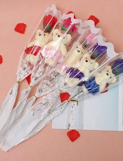 Soap-Rose-flower-teddy-foam-the-little-flower-shop-florist-londonRose-Flower-For-Romantic-Valentines-Day-Creative-Gifts-Mother-s-Day-Artificial-Flower-Bear-Rose-5