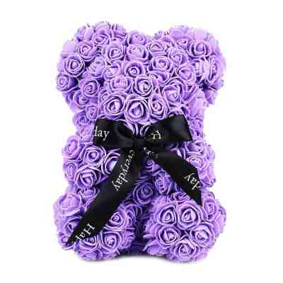 ROSE BEAR SMALL PURPLE-THE-LITTLE-FLOWER-SHOP-FLORIST-LONDON-GIFT-SHOP-UK-DELIVERY-ROSE-BEAR-FLOWERS-FAUX-FLOWERS-ARTIFICIAL-min