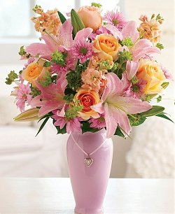 pink lily-orange-rose-bouquet-mothers0day-flower-bouquet-the-little-flower-shop-florist-london