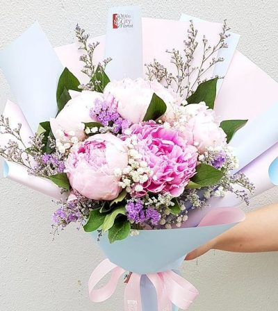 peony-flower-bouquet-the-little-flower-shop-summer-flowers-florist-london-brixton-clapham-uk-delivery
