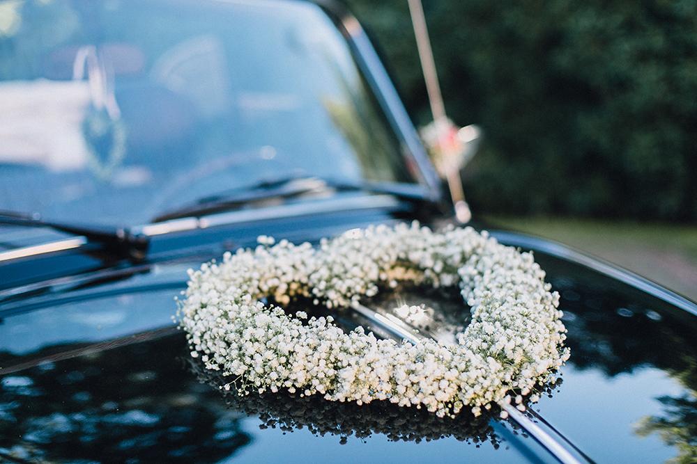 Herz Blumensch Autoschmuck Hochzeit Autodeko Hochzeit
