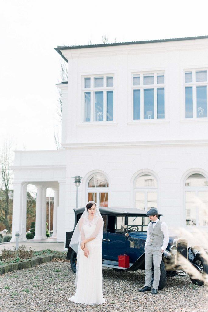 Vintage Hochzeit Mit Silber Kleid Und Traumhaftem Ambiente
