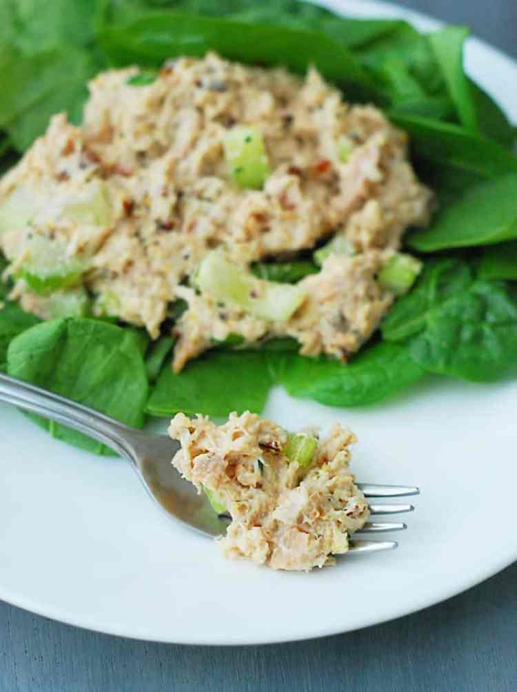 Fresh Chicken Salad - So tasty! My secret ingredient, dijon mustard makes this classic dish unforgettable.