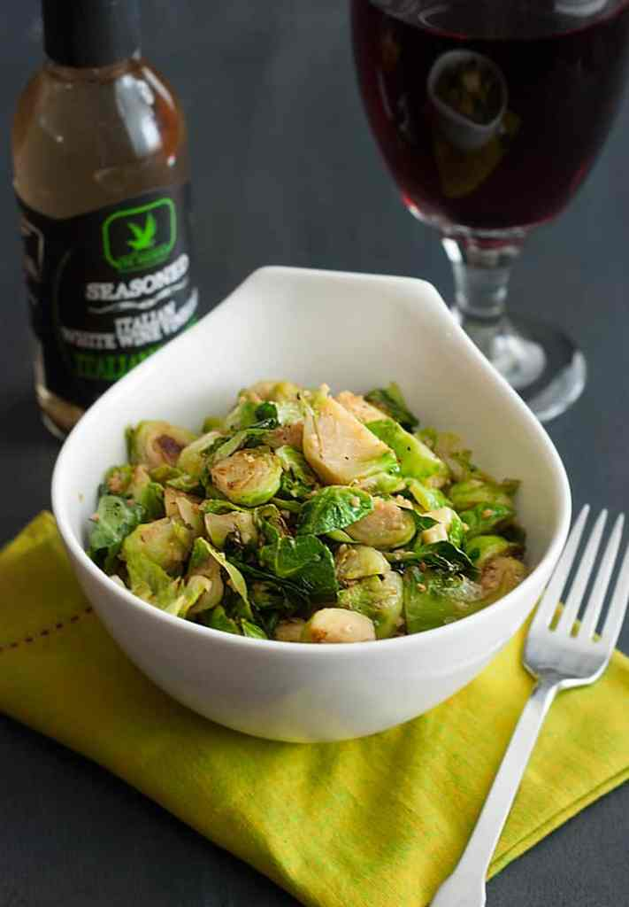 Italian Vinegar Brussels Sprouts - simple to prepare and tasty to devour.