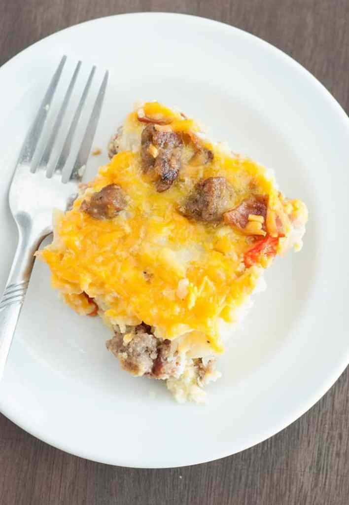 Quick Breakfast Casserole - I've been looking for a recipe like this, now I've got it (seriously easy and super tasty)
