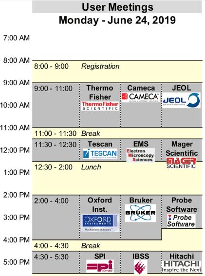 User Meeting Schedule