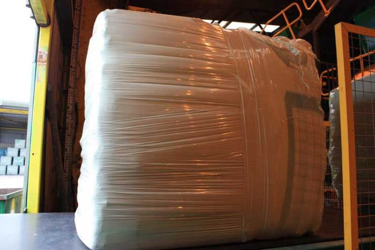Refuse Derived Fuel (RDF) bales in Wrapper