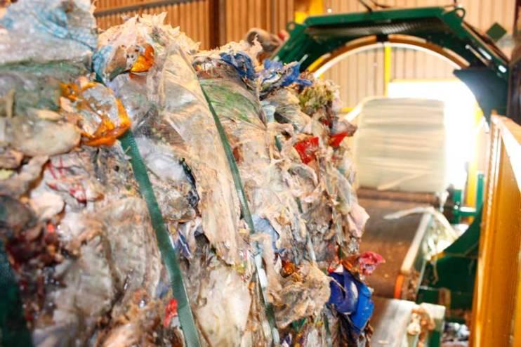 Refuse Derived Fuel (RDF) Bale in Baler