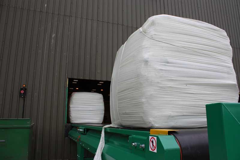 RDF bale wrapped