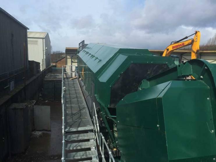 Skip Waste Recycling System Trommel with Walkways