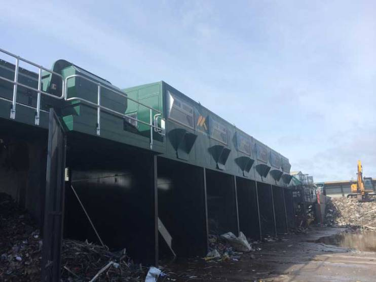 Skip Waste Recycling System Picking Cabin