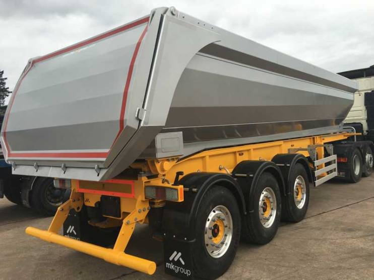 half pipe tipping trailer