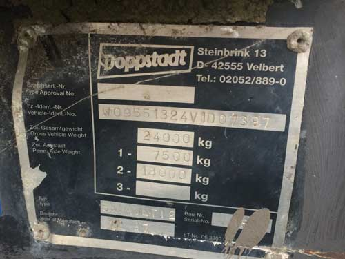 Doppstadt AK550 Multi II Shredder Serial Plate Used Doppstadt AK 550 Multi II Shredder for Sale