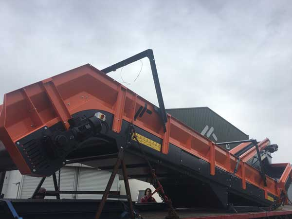 Chain Conveyor and Baler Cleaning Conveyor Shipping to a customer