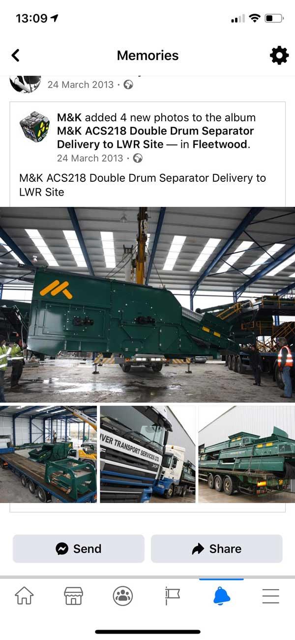 Double Drum Air Density Separator