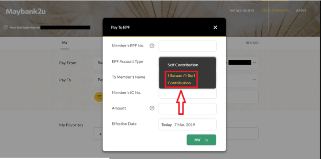 How To Pay EPF i-Saraan Online Through Maybank - The Money Magnet