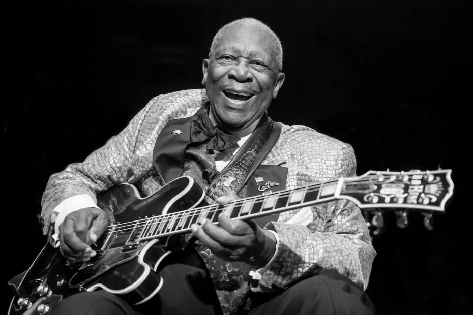 B.B. King a Lucille gitárjával - a blues király