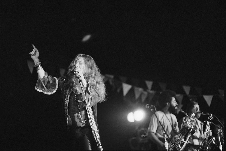 Janis Joplin koncerten