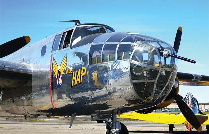 The B-25 Mitchell bomber. Pictured here is the personal plane of General Henry 'Hap' Arnold, the commander of US Army Air Forces during the war.