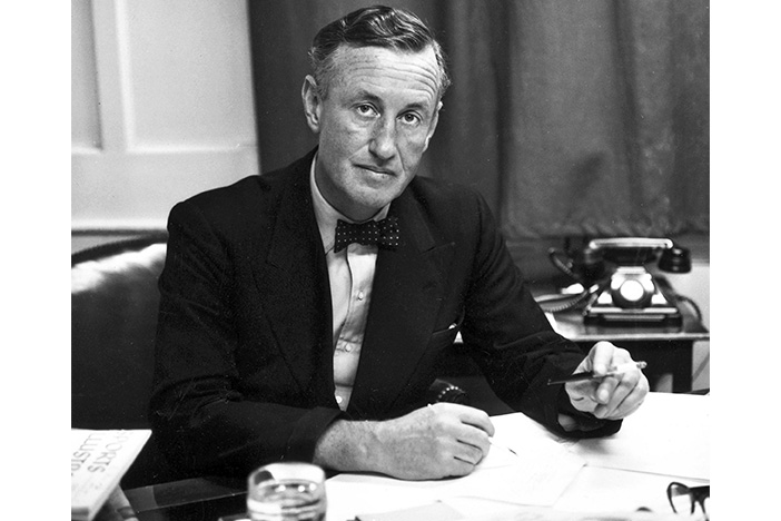 Ian Fleming in the 1950s. His series of espionage thrillers transformed the genre both in print and on-screen.