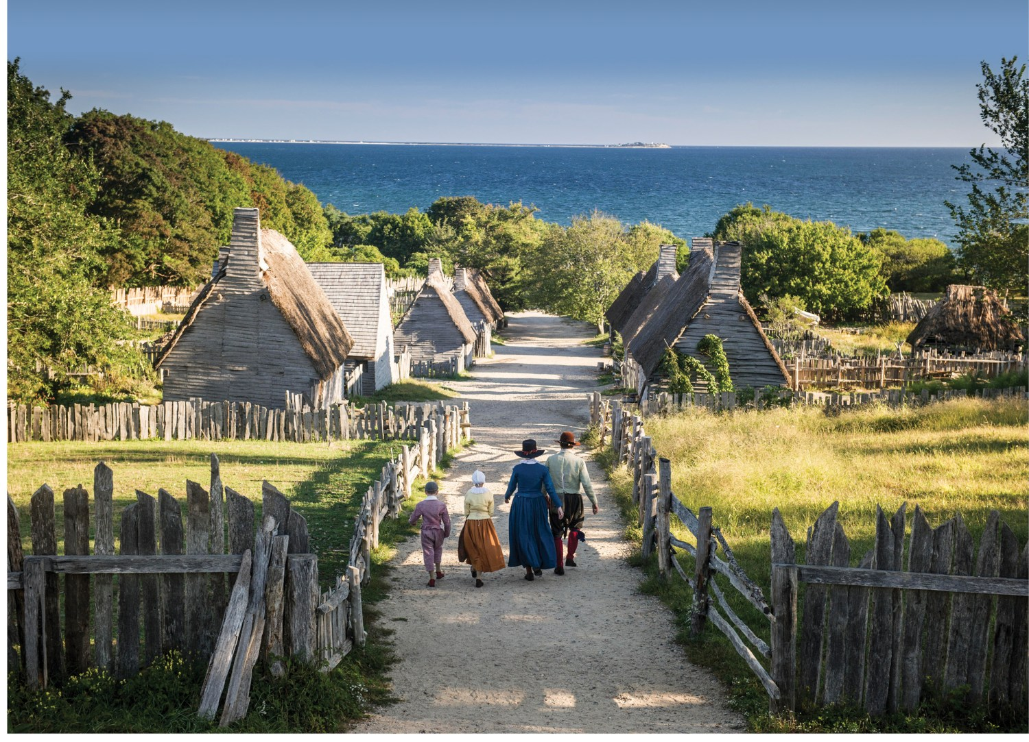 above Overlooking the landscape at Plimoth Plantation, a living-history museum recreating Plymouth Colony in Massachusetts, which helps to tell the Mayflower's story.