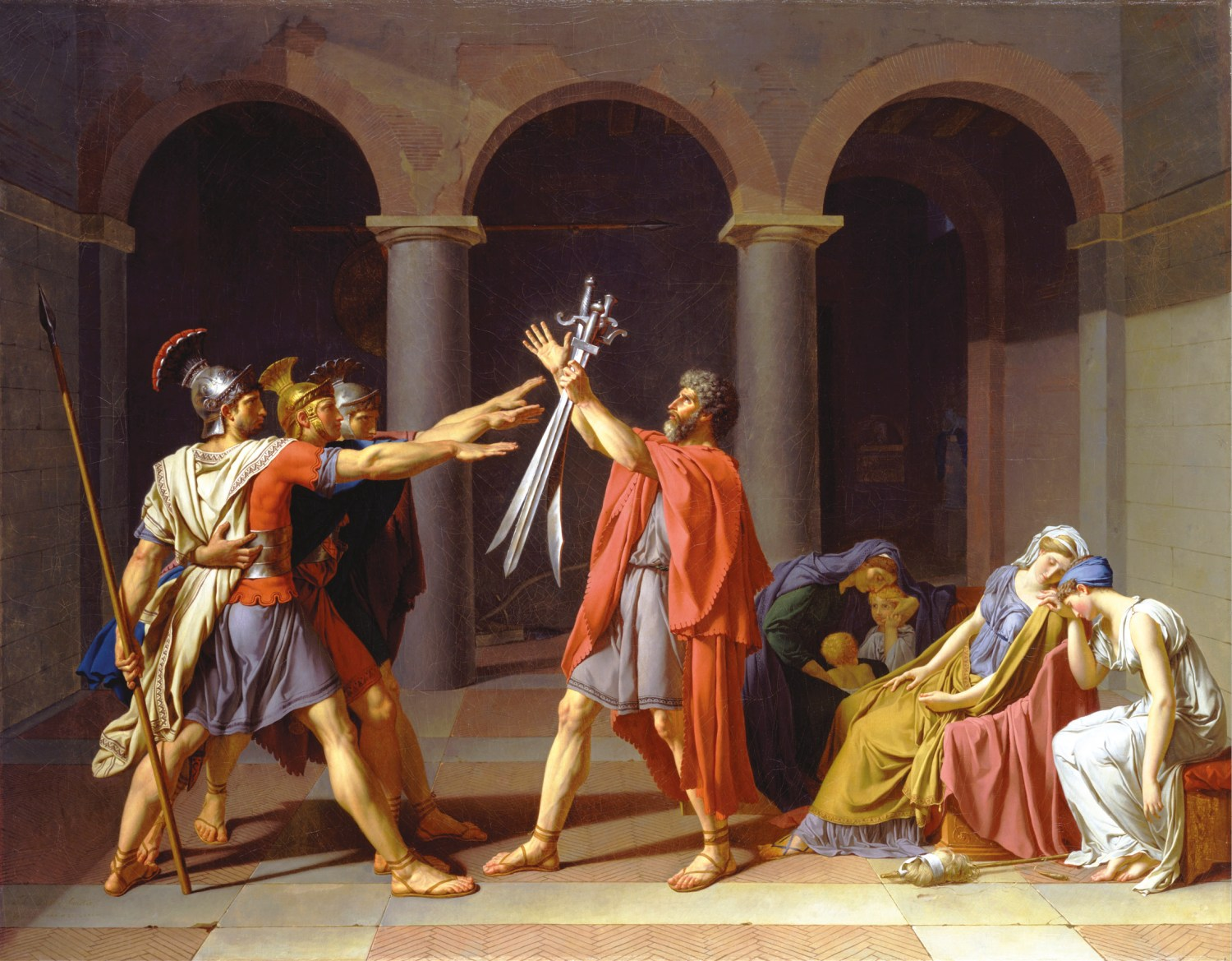 ABOVE Oath of the Horatii (1784) by French radical artist Jacques-Louis David was inspired by the ideals of the Enlightenment in the years before the French Revolution.