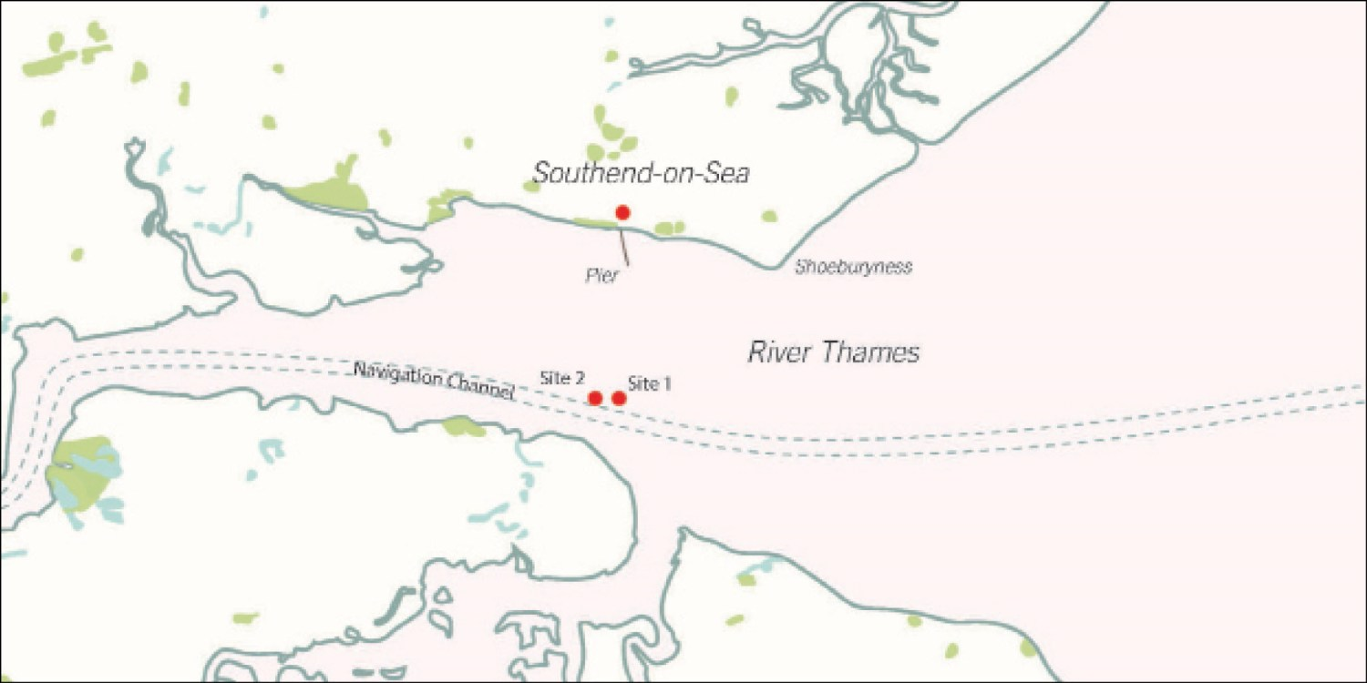 below The London sank after exploding off the coast of Southend. Today, it lies in two pieces close to a busy shipping channel.