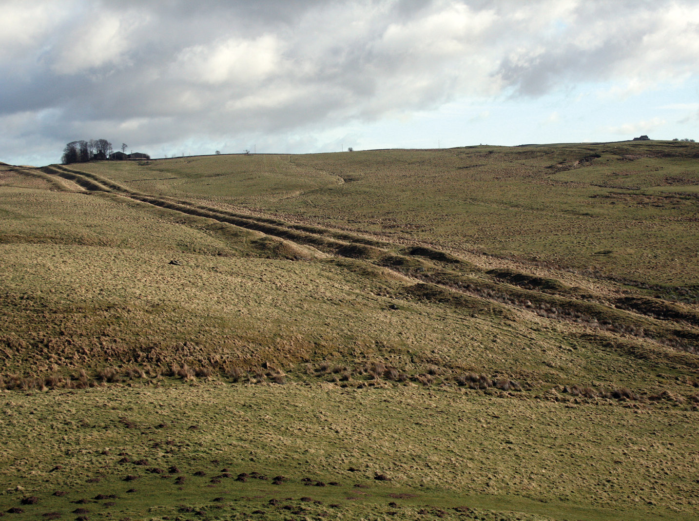 below The Vallum is an extraordinary earthwork that generally consists of a 6m-wide ditch flanked by earth mounds to the north and south. As the decision to add it seems to have been taken after construction was under way, does it reflect a shift in the security situation?