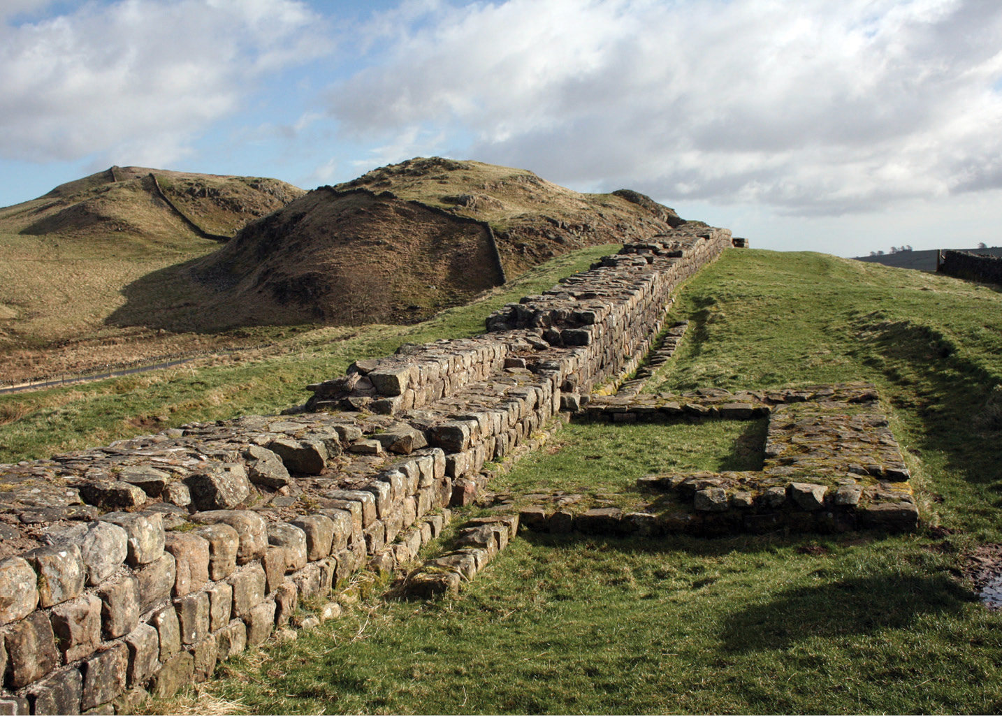 below Turret 41a on Hadrian's Wall. Could this frontier system have been designed as a component of a counterinsurgency strategy?