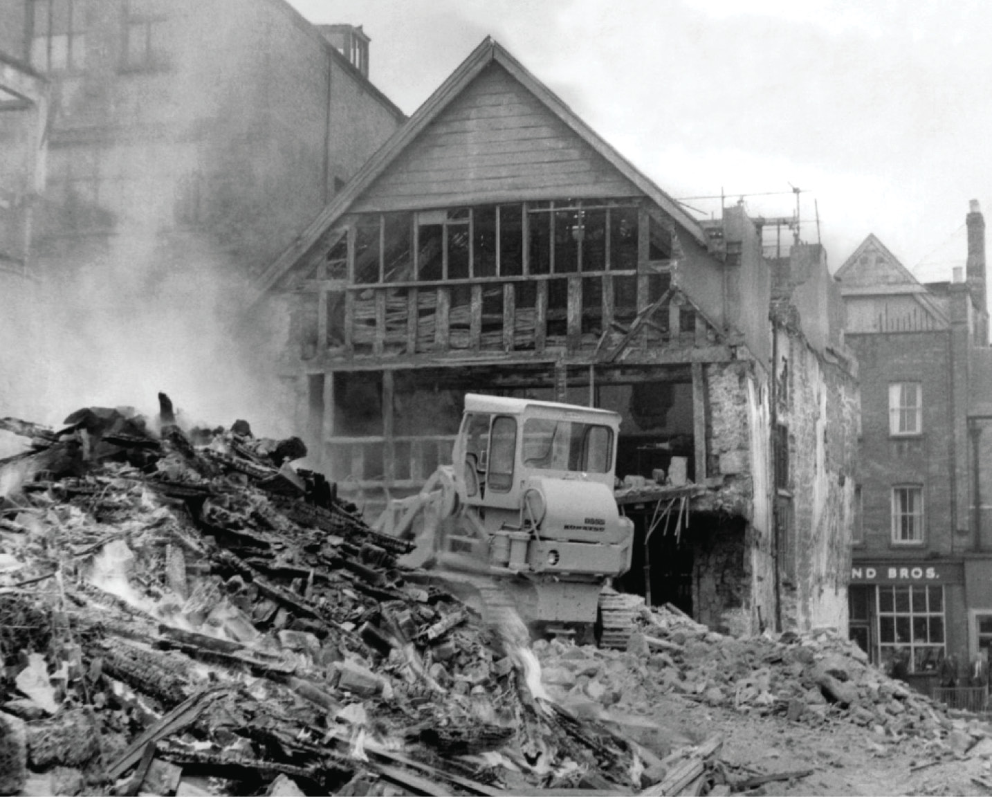 LEFT The demolition of 38 North Street in May 1972 one of many urban development schemes in Exeter that also offered archaeological opportunities.