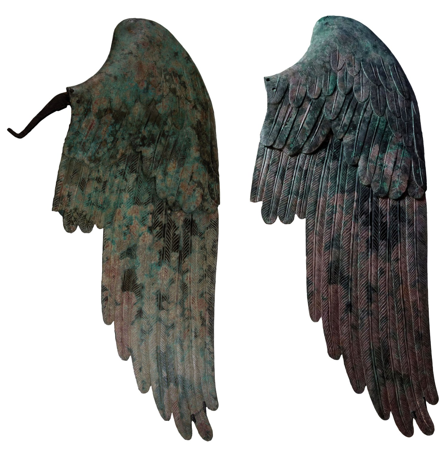 ABOVE The two bronze wings found with the Victory and reattached in the 19th century.