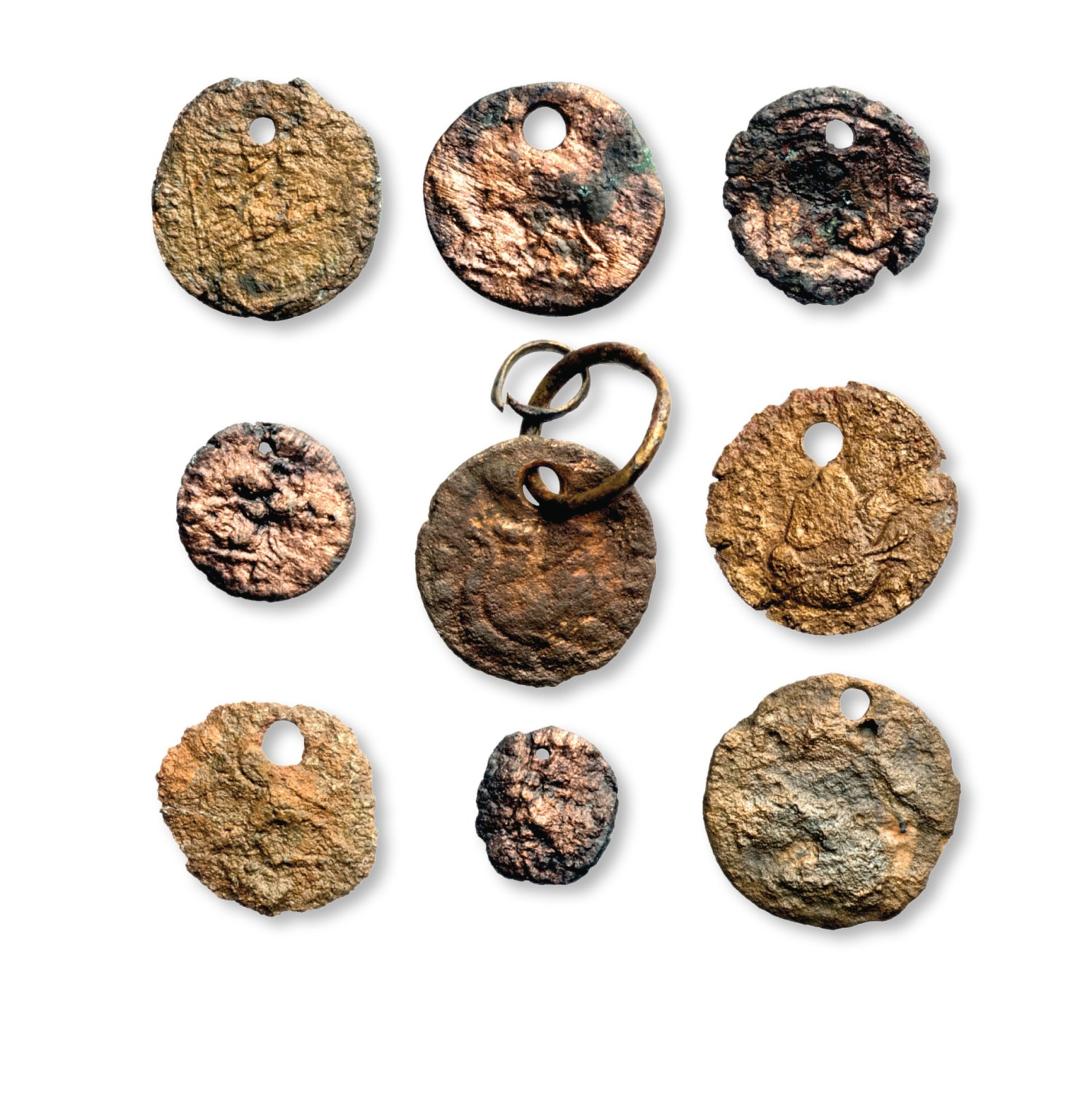 above The Iron Age dead seem to have been laid out in their best clothes, adorned with jewellery and Roman coins that had been pierced to form ornaments.