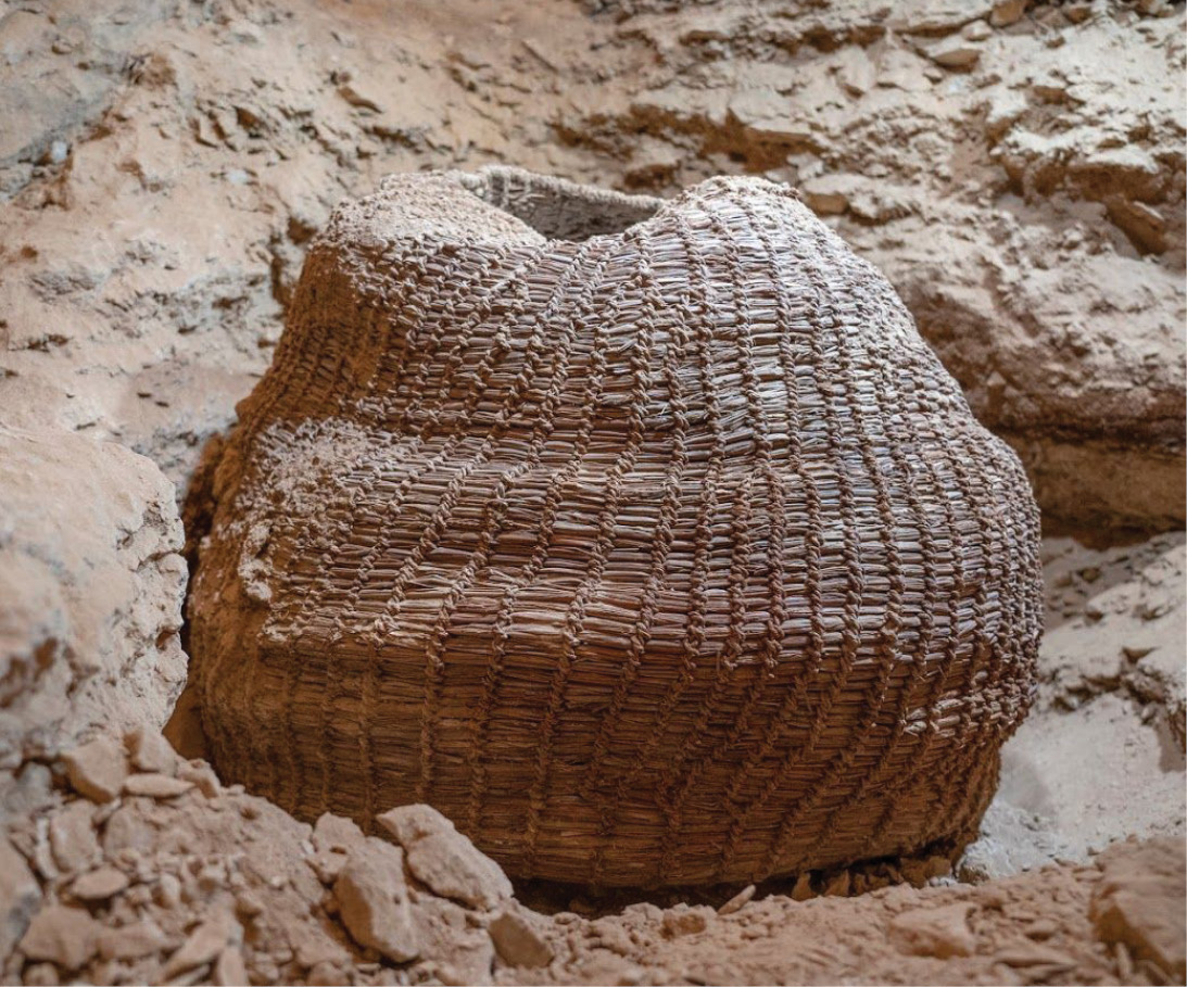 BELOW The intact woven basket uncovered by the project dates back some 10,500 years.