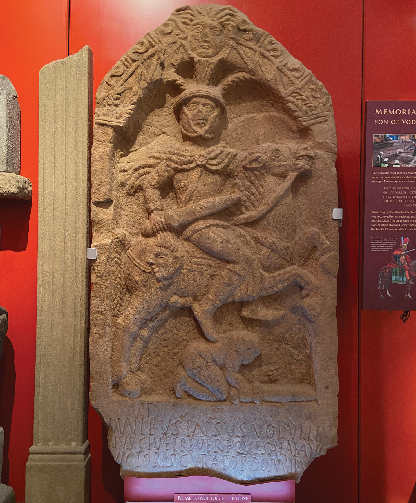 ABOVE This probably 1st-century memorial commemorates Insus, a Roman cavalry officer, and was found in Lancaster. Now housed by Lancaster City Museum, it highlights how hostile Roman encounters with indigenous communities could be.