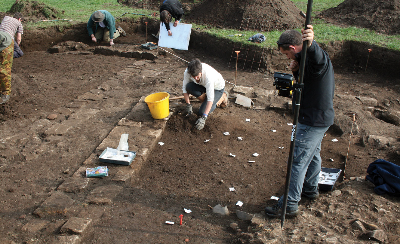above Excavations at Binchester uncovered two examples of Roman mausolea. This demonstration of the quality of the site's archaeological potential helped to establish an ongoing research project.