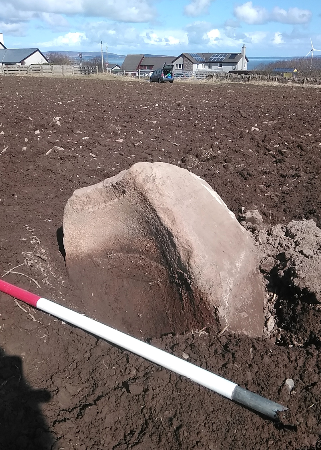 Huge quernstone unearthed in Orkney reveals Early Neolithic site