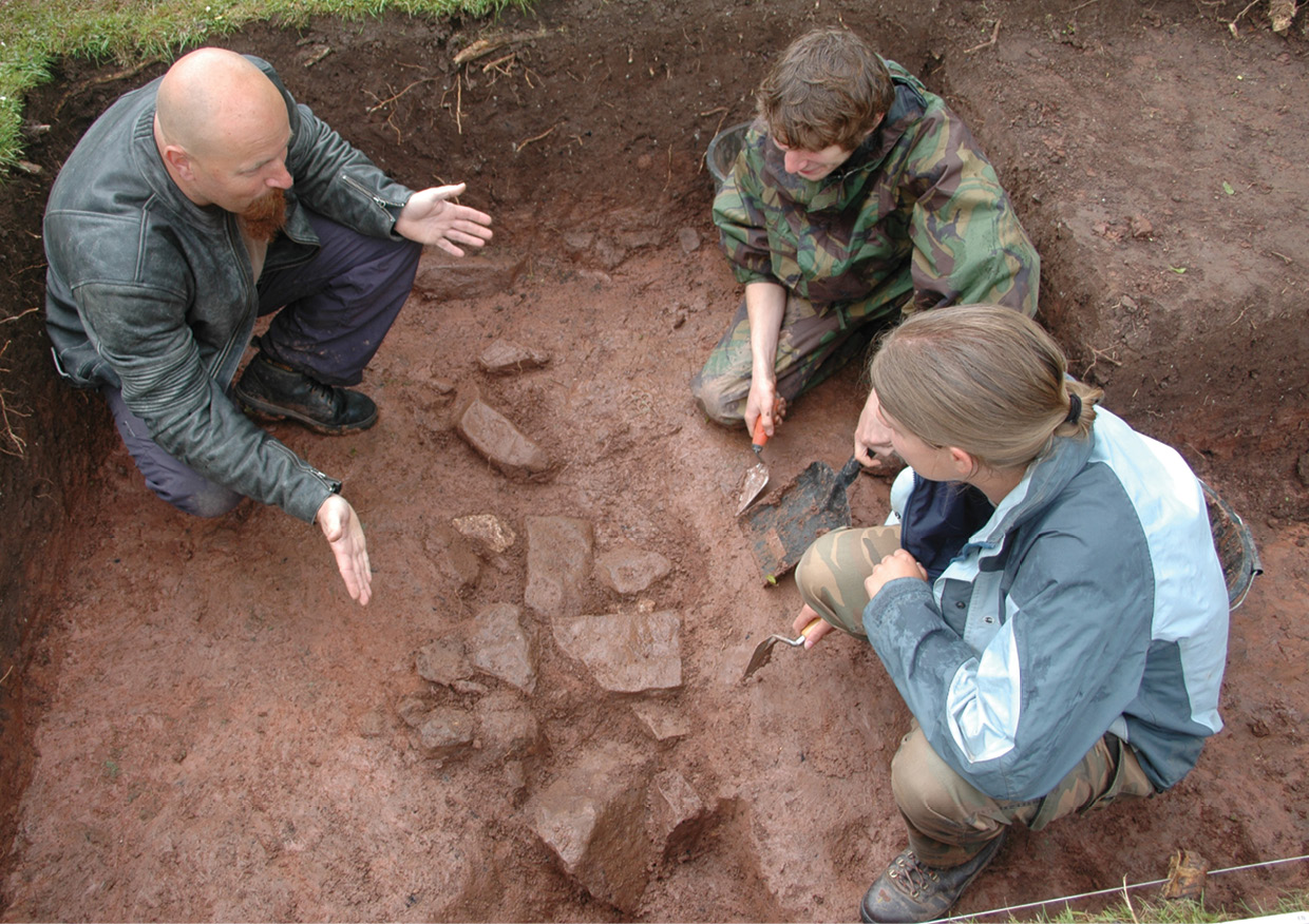 BELOW Universities should stress the importance of practical and transferable skills in an archaeology degree.