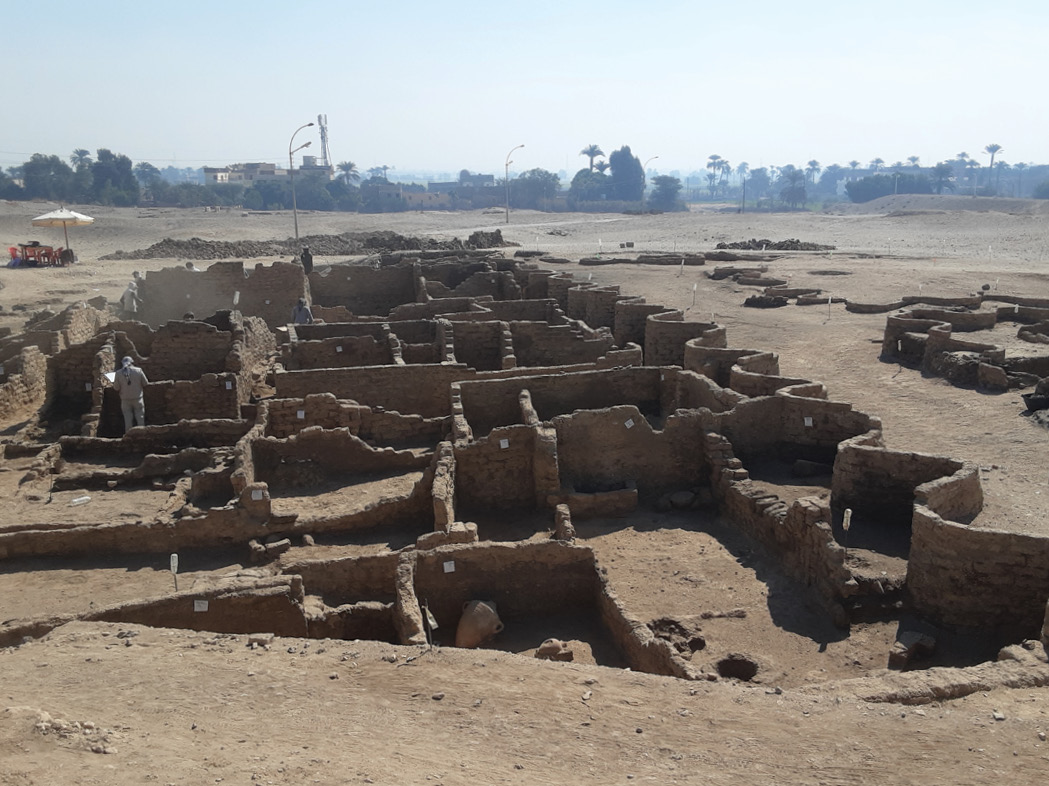 RIGHT The ancient Egyptian city is so well-preserved that many of its mud-brick walls and structures are still standing.