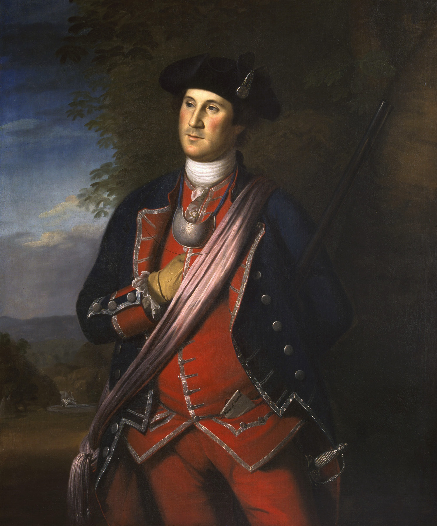 ABOVE The young George Washington, a portrait painted in 1772 that shows him as Colonel of the Virginia Regiment of the American Militia.