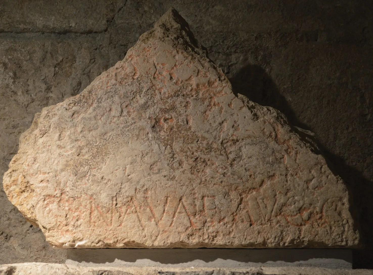ABOVE The Roman name for Geneva Genava appears on this inscription, displayed in the Site archéologique de la Cathédrale Saint-Pierre de Genève.