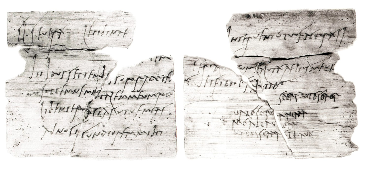 above One of the best-known Vindolanda writing tablets: an invitation to a birthday party from Claudia Severa to Sulpicia Lepidina, both wives of commanding officers based at frontier forts.