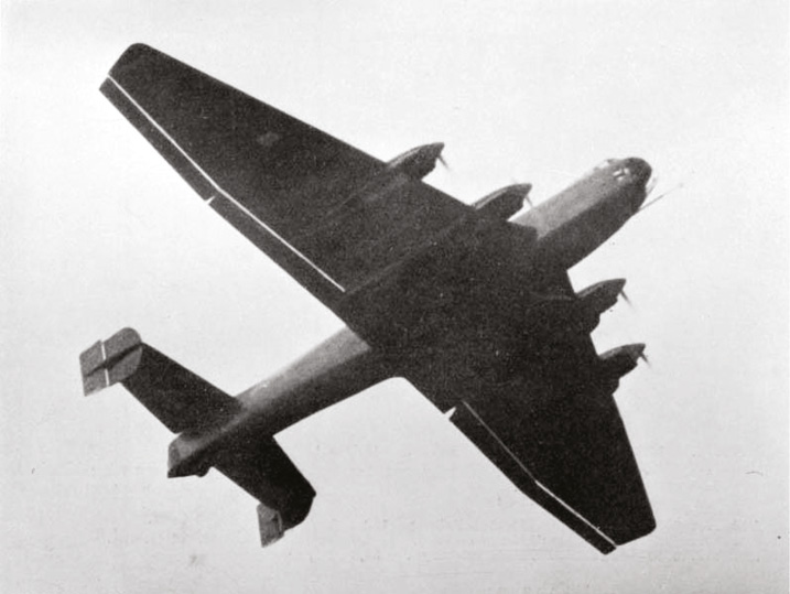 ABOVE The prototype Ju 89 heavy bomber a potentially highly effective long-range strategic bomber, cancelled in favour of medium bombers and dive-bombers that would operate primarily in the close air-support role.