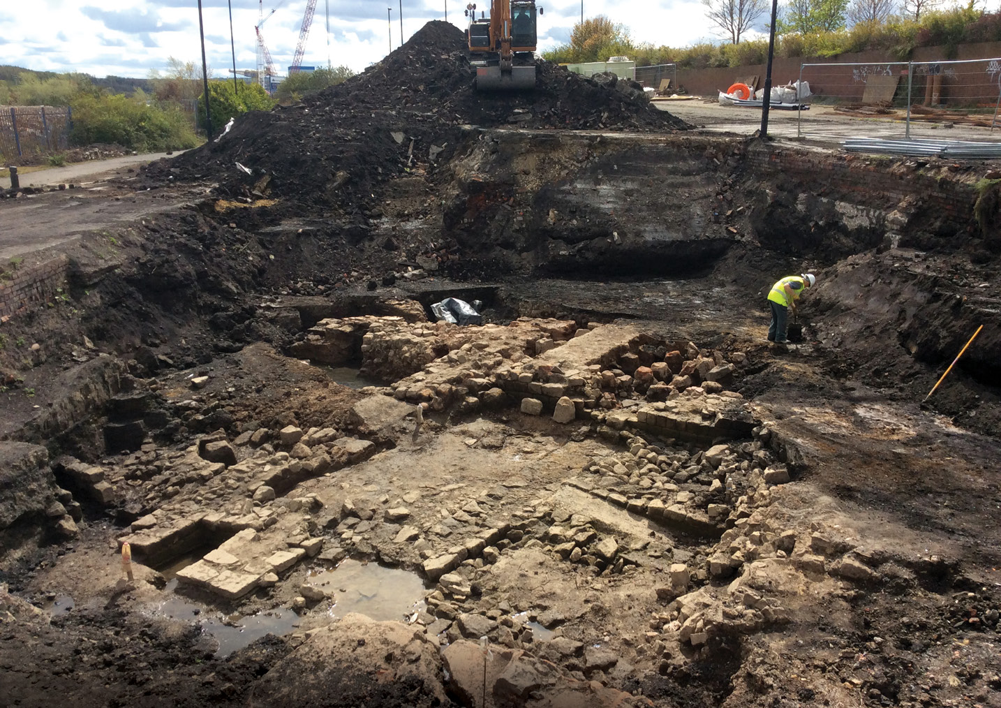 above The Roman baths at Wallsend, revealed in 2014-2015.